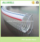 Mangueira da água da rede do anel da espiral do fio de aço do PVC