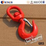 Красный покрашенный крюк шарнирного соединения стали сплава