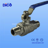 Steel di acciaio inossidabile Male Estremità 2PC Ball Valve