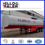 3 de Benzine van het Aluminium van de as 42000L/de Semi Aanhangwagen van de Tankwagen van de Benzine/van de Brandstof