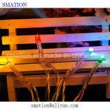 تعمل بطارية LED احتفالية في الهواء الطلق عيد الميلاد سلسلة حديقة أضواء عيد الميلاد