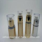 Bottiglia di plastica dell'estetica della bottiglia della bottiglia senz'aria Gold-Plated