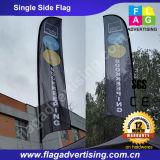 Флаг пера пляжа Eco-Friendly яркого цвета изготовленный на заказ рекламируя