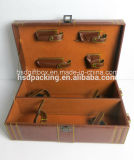 Silk Insertの贅沢なGift Packaging Leather Wine Box