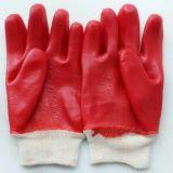 Перчатки красного цвета резиновый для конструкции