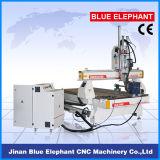Машинное оборудование вырезывания CNC Ele-1325 2spindles 3D деревянное для деревянный высекать