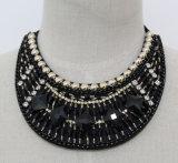 Halsband van de Nauwsluitende halsketting van het Kristal van de Charme van de manier de Vierkante Ruige (JE0036)