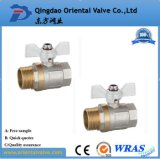 Válvula de esfera de bronze rapidamente conetada da alta qualidade ISO228 1 polegada para a água