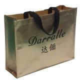 金のラミネーション(14081805)が付いている魅力の買物客袋、