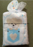 Couche-culotte de bébé avec le jeu de flanelle estampé par coton 100%