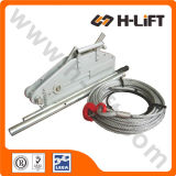 La cuerda de alambre que tira del alzamiento / Cabrestante / alambre de torno de cable