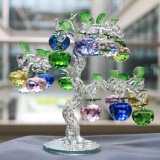 Gift를 위한 Crystal 14 인치 Glass Apple Tree Home Decoration