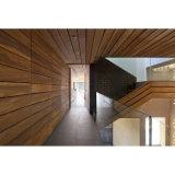 Fscの証明の屋内装飾材料の木の材木の音響の壁パネルを使って