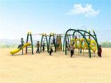 公園の子供の娯楽体操の訓練用器材