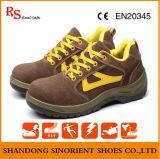 Sapatas de segurança de couro da camurça com certificado do Ce (RH118)