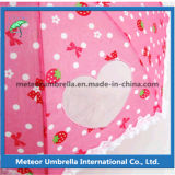 Parapluie amical de fantaisie de chevreaux d'enfants de panneau de lacet de fleur de sécurité d'Eco