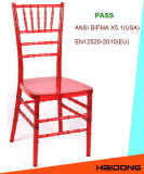 Красный кристаллический стул Chiavari смолаы поликарбоната
