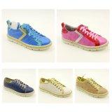 Madame Sport Sports Shoes de trois de couleur de mode femmes de loisirs avec le lin textile (AB17S08)