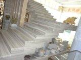 壁のフロアーリング階段のためのベージュ銀製の川の大理石の平板の大理石のタイル