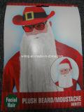 크리스마스 견면 벨벳 백색 Beard&Moustache (BA002)