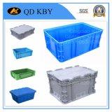 Caixa empilhada do uso da alta qualidade logística plástica larga