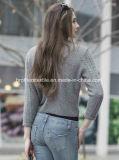 Camisola da caxemira das senhoras com teste padrão (1500002067)