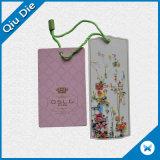 La meilleure étiquette de coup de papier des prix de fournisseur chinois pour le vêtement/bijou de mode