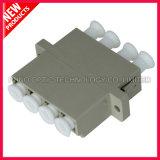 LC ao adaptador plástico Multimode da fibra óptica de 4 núcleos do LC