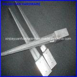 71X71mm entraînés une réduction l'attache galvanisée de poste de frontière de sécurité en métal