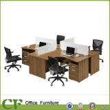 L字型オフィス用家具の机の空地のキュービクルワークステーション