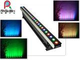 Luz interna da arruela da parede da tira da barra do diodo emissor de luz da luz do estágio do RGB 24X3w