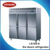 Холодильник охладителя кухни 6 дверей коммерчески