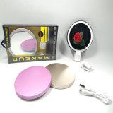 La luz de destello del anillo del LED compone el espejo con la batería de la potencia