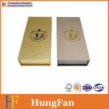 황금 색깔 로고를 가진 장식용 포장 선물 종이상자