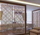 Écran d'intérieur coupé par laser en métal d'acier inoxydable de couleur décorative