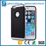 GalvanisierenFrame+Leather rückseitiger Deckel Motomo Verteidiger-Handy-Fall für iPhone 7/7plus
