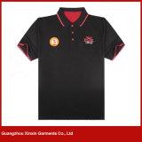 Magliette su ordinazione di sport del collare di polo con il disegno del ricamo (P16)