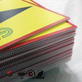 Farbige pp.-gewölbte Plastikblätter für das Bekanntmachen