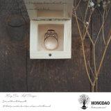 _E del rectángulo de almacenaje del embalaje del mini de la insignia de Hongdao pequeño rectángulo de madera de encargo barato del anillo de bodas