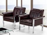 Sofà popolare del cuoio dell'ufficio di alta qualità con l'ammortizzatore 1+1+3 del doppio del blocco per grafici del metallo in azione
