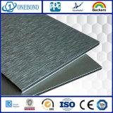 Painel composto de alumínio escovado