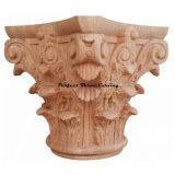 خشب كلاسيكيّة ينحت يشبع مستديرة رومانيّ [كرينثين] رأس مال [كب-01]
