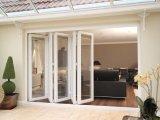 Porte de pliage en aluminium de Pnoc080326ls avec le film décoratif