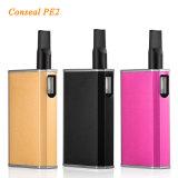 최신 열광 Seego 소형 전자 담배 Conseal PE2 510 E 액체 Cbd Thc 본질 기름 기화기 카트리지