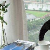 Tela de linho da cortina do painel do algodão desobstruído do estilo para o hotel (18F0113)