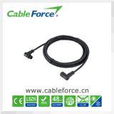 Mâle du câble d'interface de Nmea 2000 M12 au connecteur imperméable à l'eau rectangle de la femelle 5pin