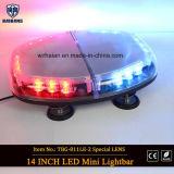 Barre de lumière d'avertissement de danger Barre d'éclairage miniature d'urgence pour voitures auto avec aimants résistants