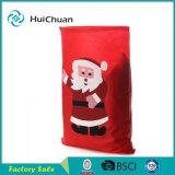 Sacchetto di Drawstring non tessuto della Santa del sacchetto del regalo di natale