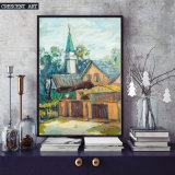 Impression sur toile de Watercolor Cartoon Houses
