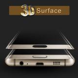 Película anti del teléfono del vidrio Tempered de la dureza del azul 9 para el protector de la pantalla del borde de Samsung S6